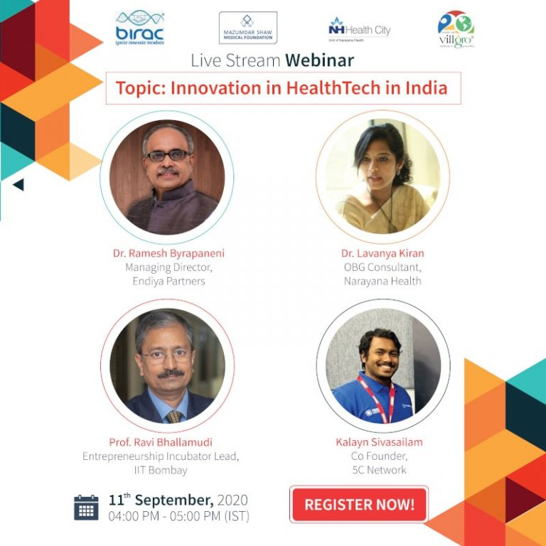 "Webinar – ""The Innovation in HealthTech in India"""